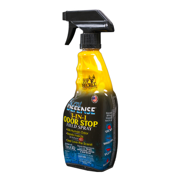 Top Secret Deer Scents Defense Spray Front Angle View